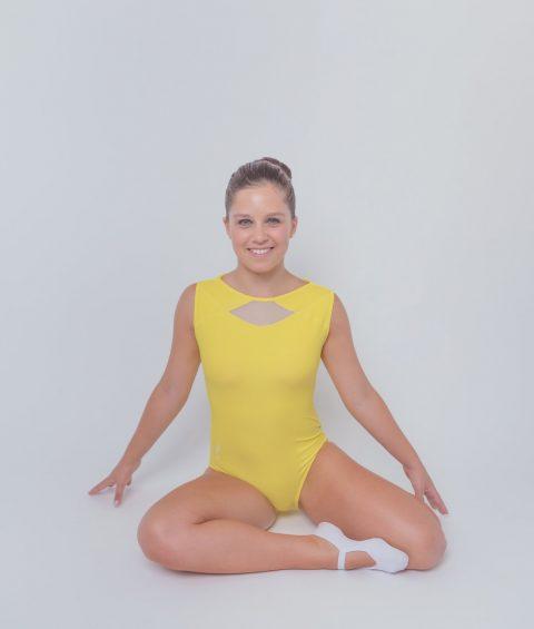 Maillot de Ginastica Trampolins - Icy Lightning Amarelo